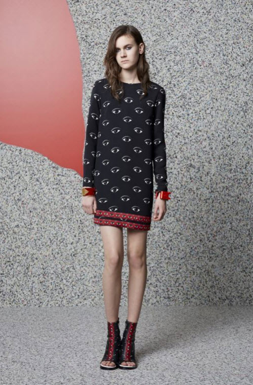 Kenzo Eye Print Dress