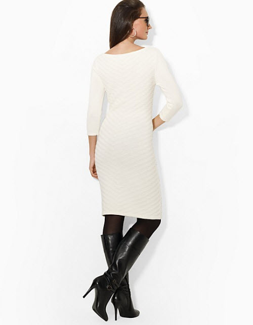 Lauren Ralph Lauren Three Quarter Sleeve Sweater Sheath Dress 2