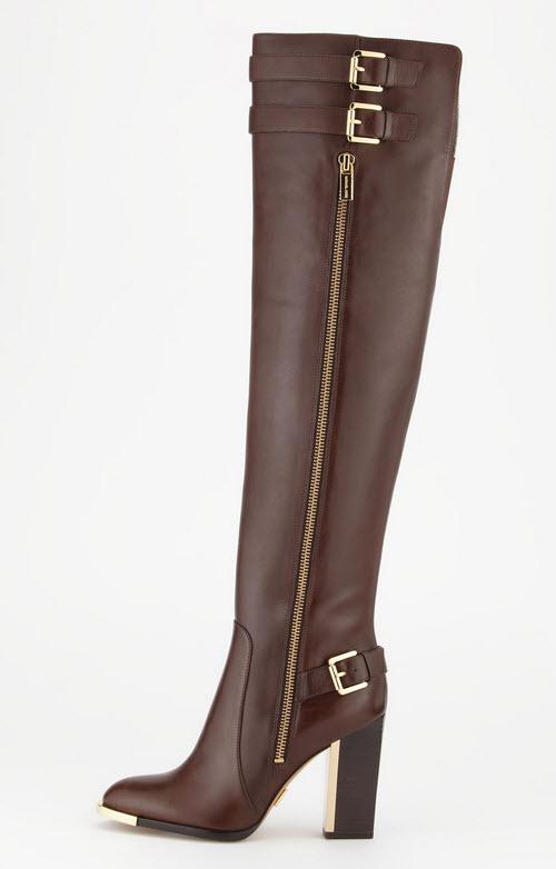 Michael Kors Jayla Buckle-Heel Knee Boot 2