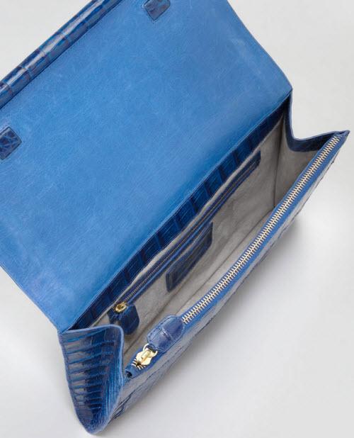 Nancy Gonzalez Front-Flap Crocodile Bar Clutch Bag 2