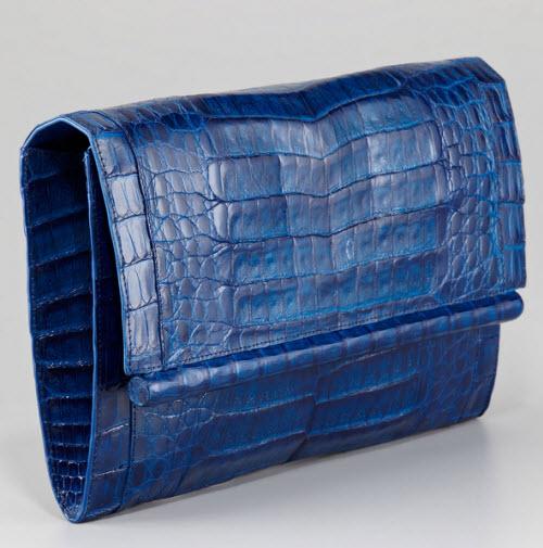Nancy Gonzalez Front-Flap Crocodile Bar Clutch Bag 3