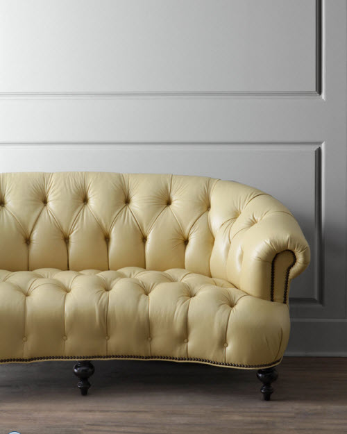 Old Hickory Tannery Lenoir Yellow Sofa 2