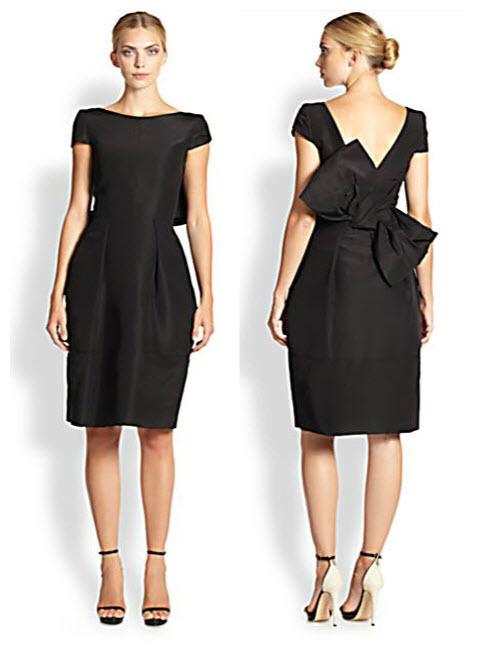 Oscar de la Renta Silk Bow-Back Dress 3