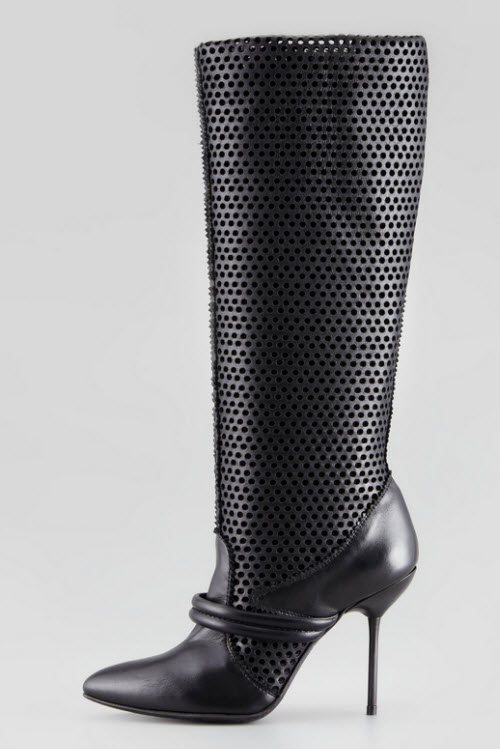 Pedro Garcia Darsy Perforated Tall Boot 2