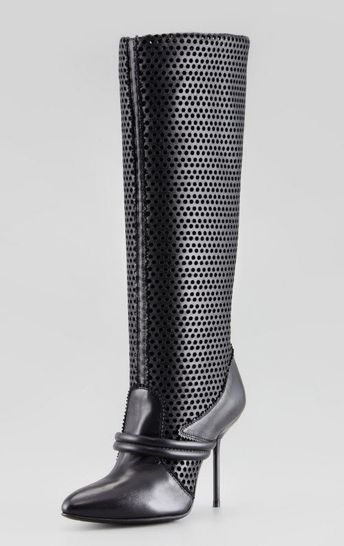 Pedro Garcia Darsy Perforated Tall Boot
