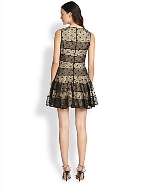 RED Valentino Polka-Dot-Embroidered Dress 3