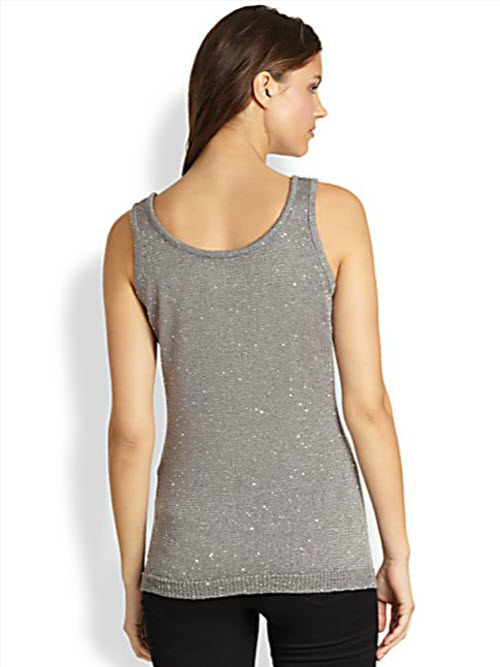 Saks Fifth Avenue Collection Paillettes Tank 2