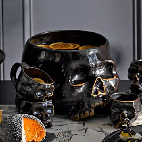 Williams-Sonoma Halloween Skull Punch Bowl