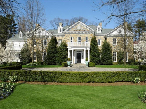 $11.9 Million Stunning Stone Georgian Mansion in Greenwich Connecticut