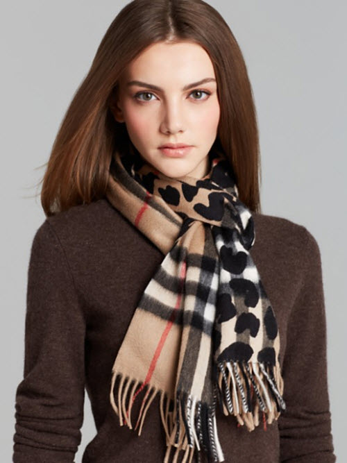burberry animal print giant check cashmere scarf. Black Bedroom Furniture Sets. Home Design Ideas