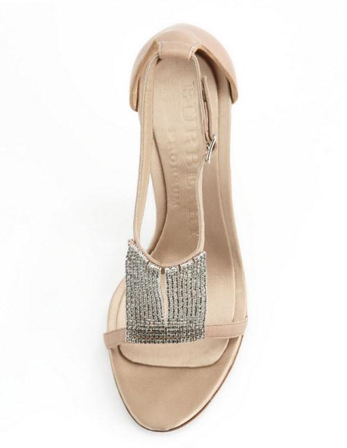 Burberry Crystal & Satin Sandal 2