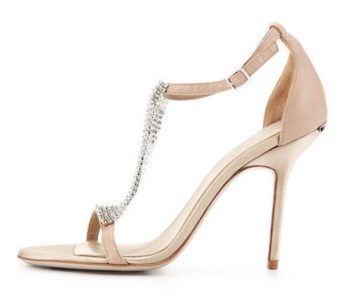 Burberry Crystal & Satin Sandal 3
