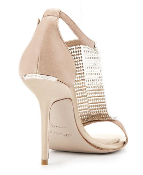 Burberry Crystal & Satin Sandal 4