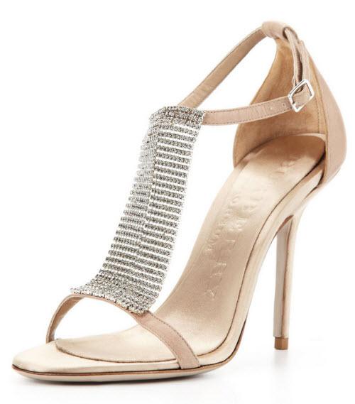 Burberry Crystal & Satin Sandal