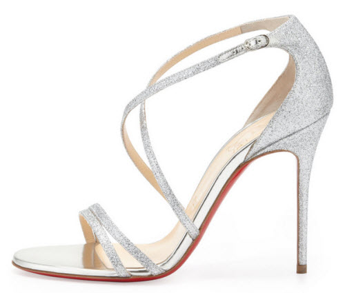 Christian Louboutin Gwynitta Glitter Open-Toed Sandal 2
