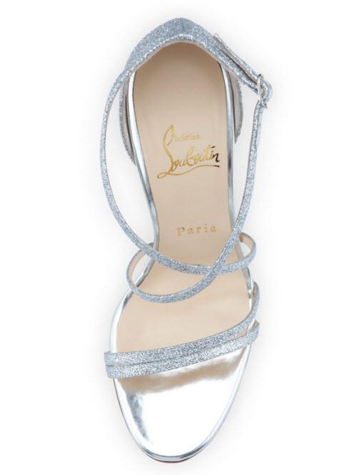 Christian Louboutin Gwynitta Glitter Open-Toed Sandal 3