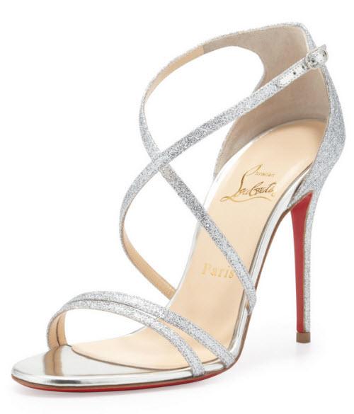 Christian Louboutin Gwynitta Glitter Open-Toed Sandal