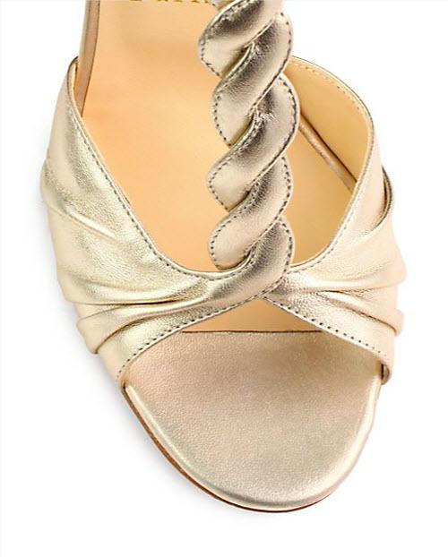 Christian Louboutin Jazzy Doll Metallic Leather Sandals 3