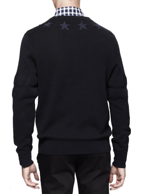 Givenchy Men's Star-Trim Pullover Sweater 2