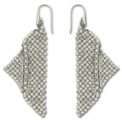 Swarovski Fit Silver Shade Pierced Earrings 2
