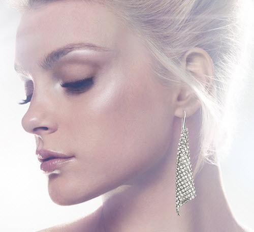 Swarovski Fit Silver Shade Pierced Earrings 3