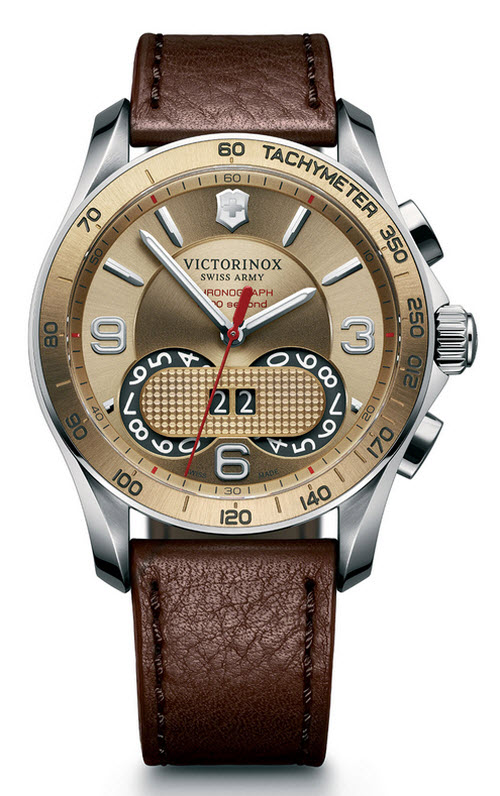 Victorinox Swiss Army Classic Chronograph Watch with Leather Strap