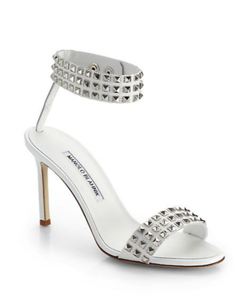 Manolo Blahnik Rocco Studded Leather Sandals