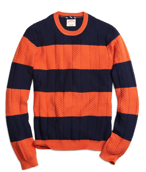 Brooks Brothers Bold Stripe Crewneck Sweater