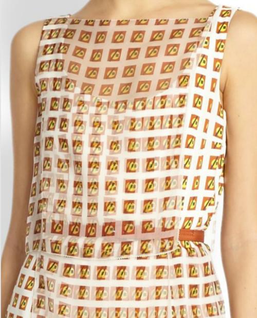 Carolina Herrera Martini-Print Layered Silk Dress 2