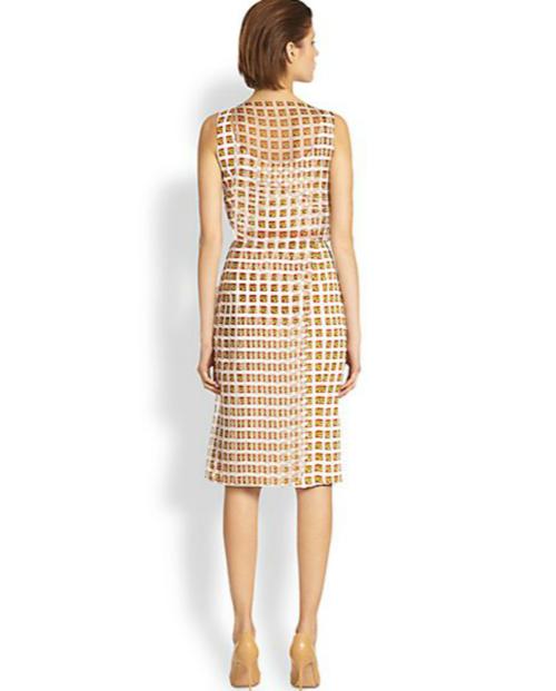 Carolina Herrera Martini-Print Layered Silk Dress 3