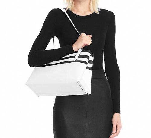 Coach The Borough Bag In Bar Stripe Leather 3