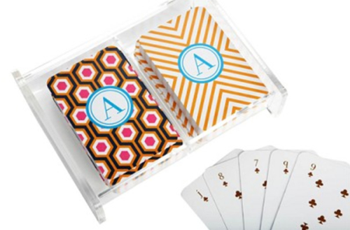 Dabney Lee Monogrammed Playing Cards