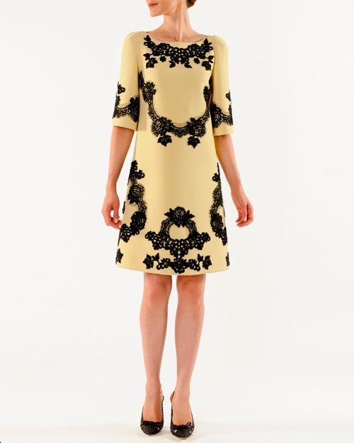 Dolce & Gabbana A-Line Lace Applique Dress