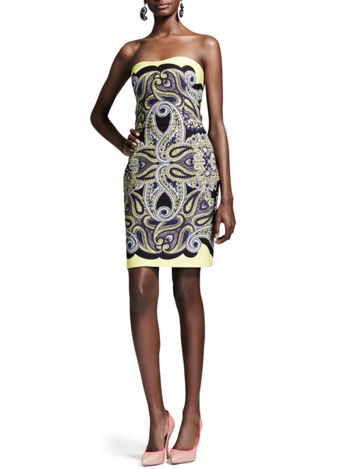Lanvin Techno Paisley Mosaic Dress