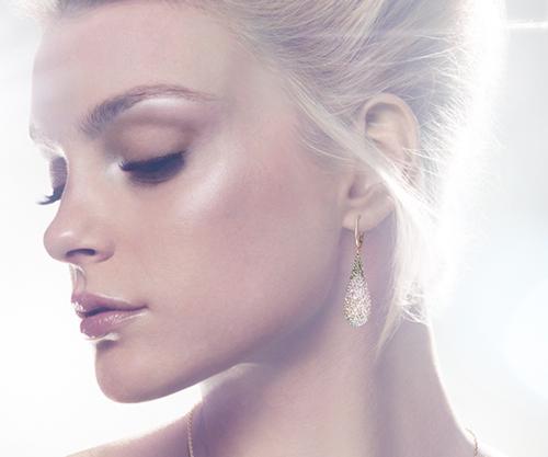 Swarovski Abstract Nude Pierced Earrings 2