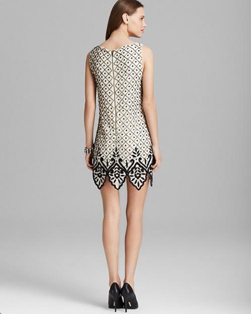 Alice + Olivia Dot Embellished Silk Dress 2
