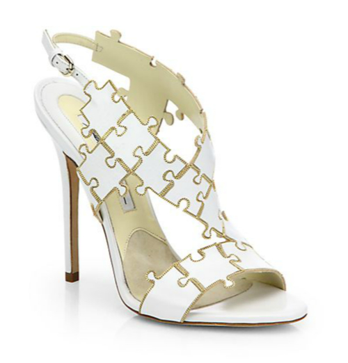 Brian Atwood Sommer Leather Puzzle Sandals