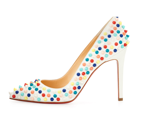 Christian Louboutin Pigalle Spikes Red Sole Pump 2