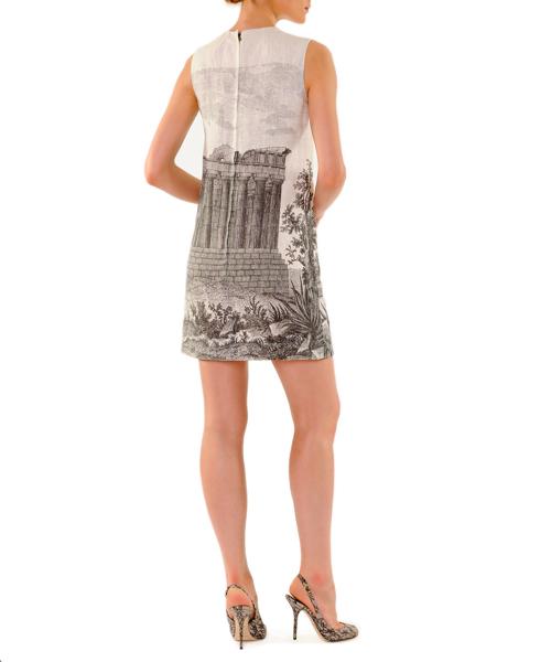 Dolce & Gabbana Ancient Ruin-Printed Linen Mini Shift Dress 2