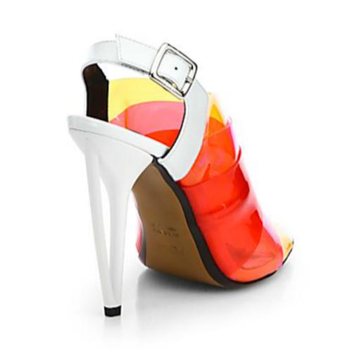 Fendi Multicolored PVC Slingback Sandals 2