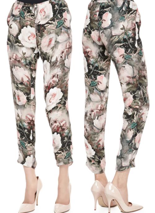 Haute Hippie Dream Floral Print Drawstring Pants 3