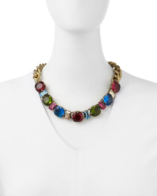 Lanvin Multicolor Crystal Necklace 2