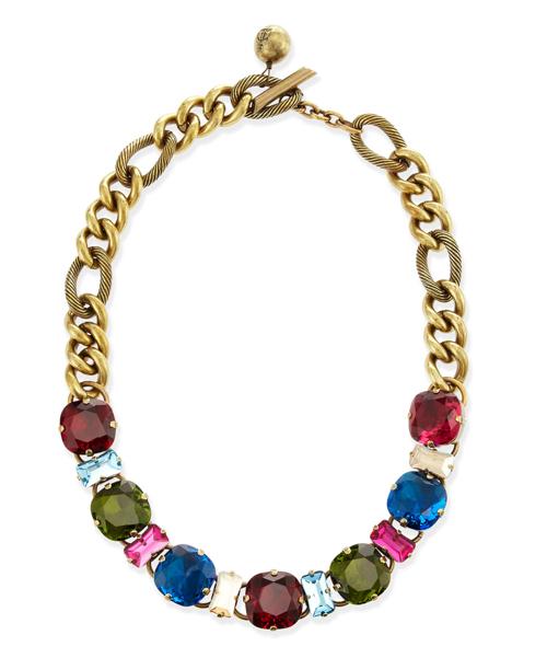 Lanvin Multicolor Crystal Necklace