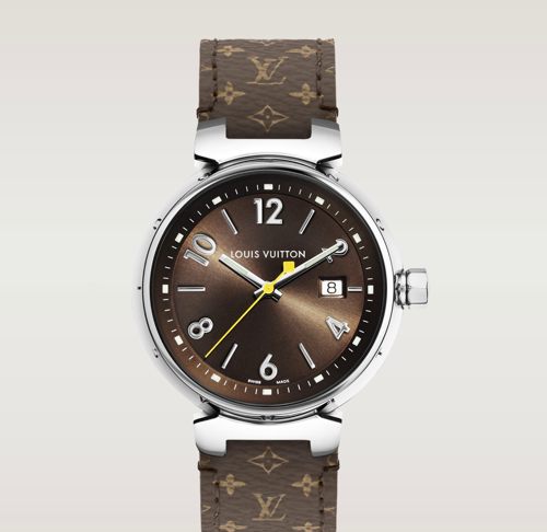 Louis Vuitton Tambour Brun Watch