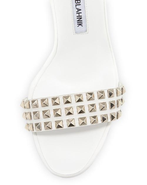 Manolo Blahnik Rocco Studded-Toe Sandal 2
