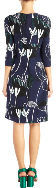 Marni Foliage Print A-Line Dress 2