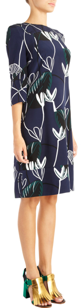 Marni Foliage Print A-Line Dress 3