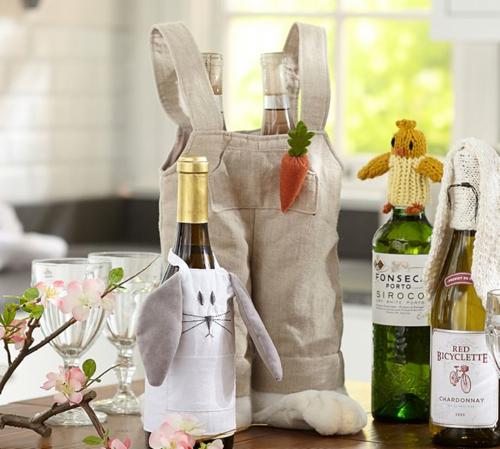 Pottery Barn Easter Wine Bottle Toppers