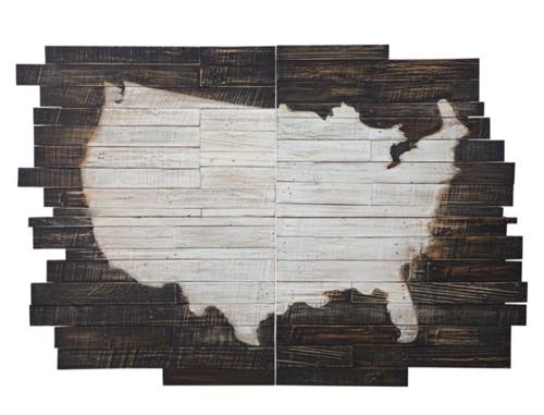 Pottery Barn Planked USA Panel Art 2