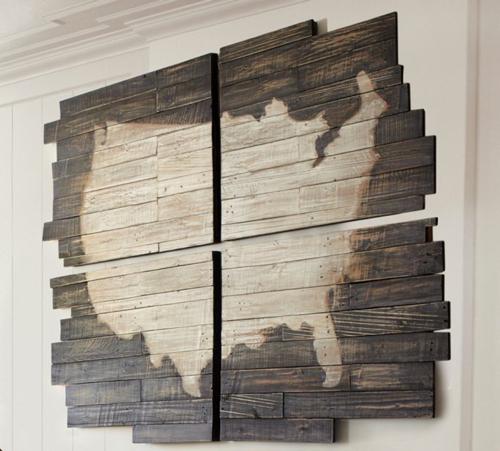 Pottery Barn Planked USA Panel Art